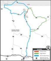 US 89 Closure Map